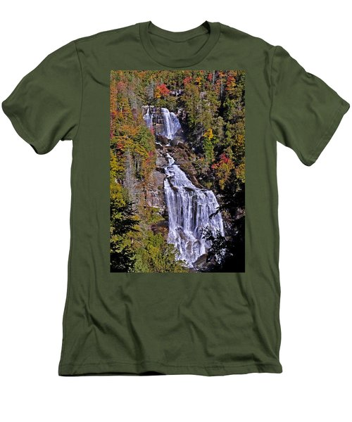 White Water Falls Men's T-Shirt (Athletic Fit)