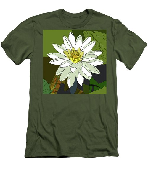 White Water Lily Men's T-Shirt (Slim Fit) by Jamie Downs