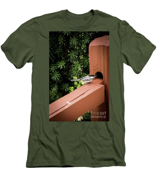Who's In There? Men's T-Shirt (Slim Fit) by Deborah Klubertanz