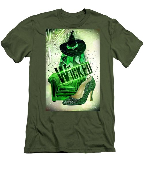 Wicked Men's T-Shirt (Slim Fit) by Mo T