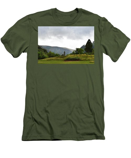 Men's T-Shirt (Slim Fit) featuring the photograph Wicklow Mountains by Terence Davis
