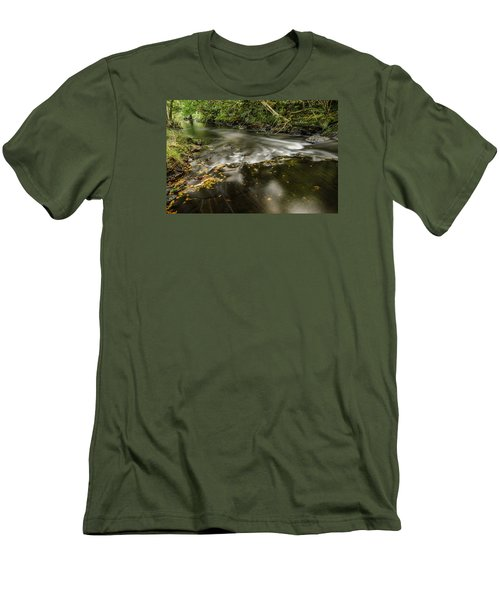 Wicklow Stream Men's T-Shirt (Slim Fit) by Martina Fagan