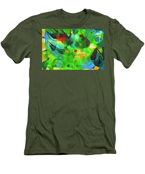 Men's T-Shirt (Athletic Fit) featuring the painting Widdy Fishy by Michele Myers