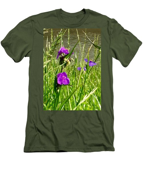 Wild About Violet Men's T-Shirt (Athletic Fit)