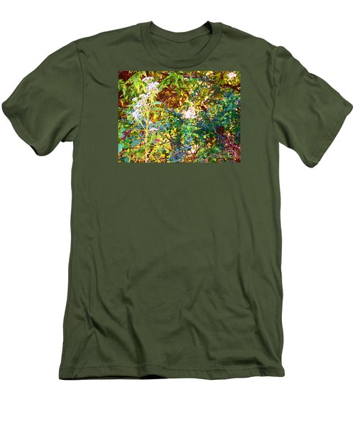 Men's T-Shirt (Slim Fit) featuring the photograph wild and Weedy by Shirley Moravec
