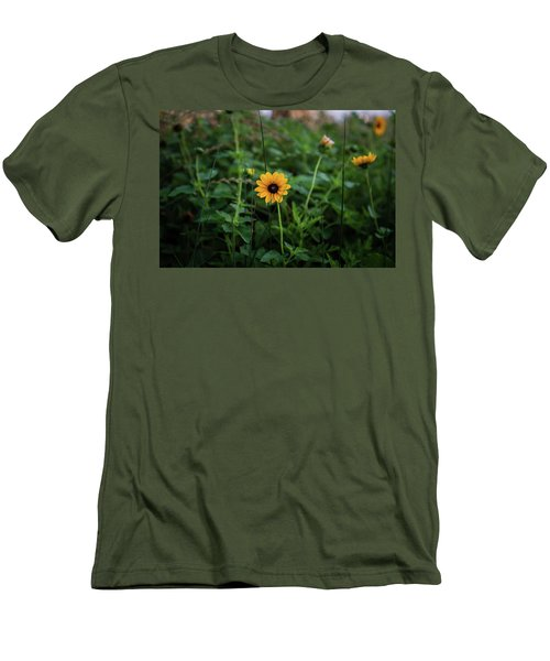 Wild At Hearts And Flowers Men's T-Shirt (Athletic Fit)