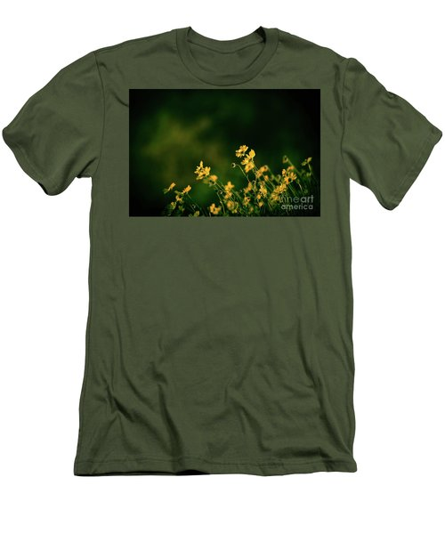 Men's T-Shirt (Slim Fit) featuring the photograph Evening Wild Flowers by Kelly Wade