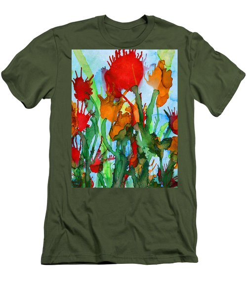 Wild Flowers Men's T-Shirt (Athletic Fit)