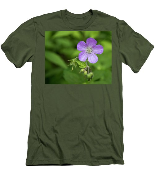 Wild Geranium Men's T-Shirt (Athletic Fit)