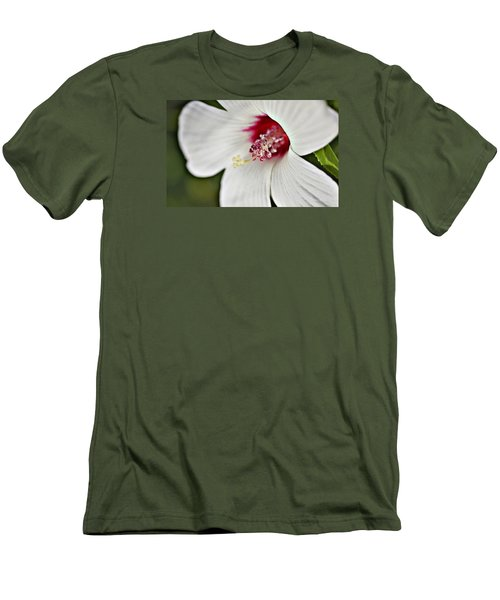 Wild Hibiscus Moscheutos_2a Men's T-Shirt (Athletic Fit)