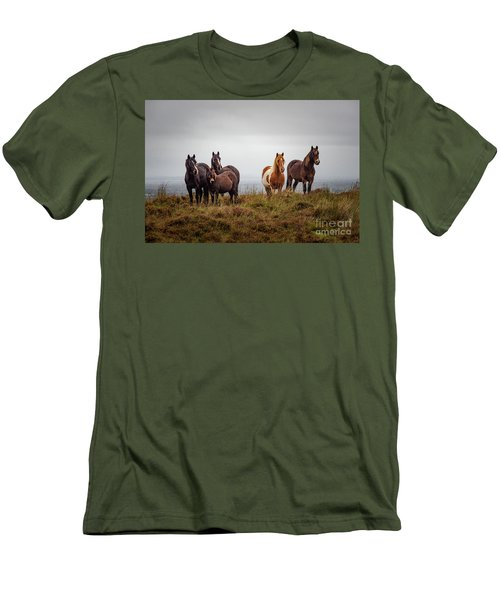 Wild Horses In Ireland Men's T-Shirt (Athletic Fit)