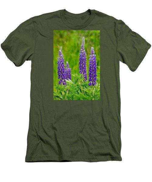 Wild Lupine Men's T-Shirt (Slim Fit) by Karon Melillo DeVega