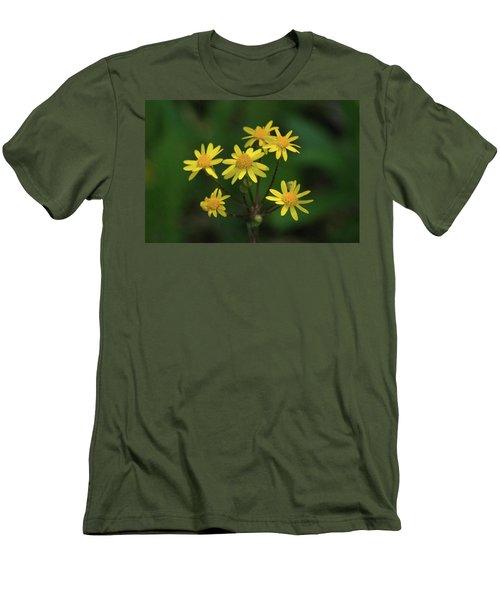 Men's T-Shirt (Slim Fit) featuring the photograph Wild Meadow Daisies by LeeAnn McLaneGoetz McLaneGoetzStudioLLCcom