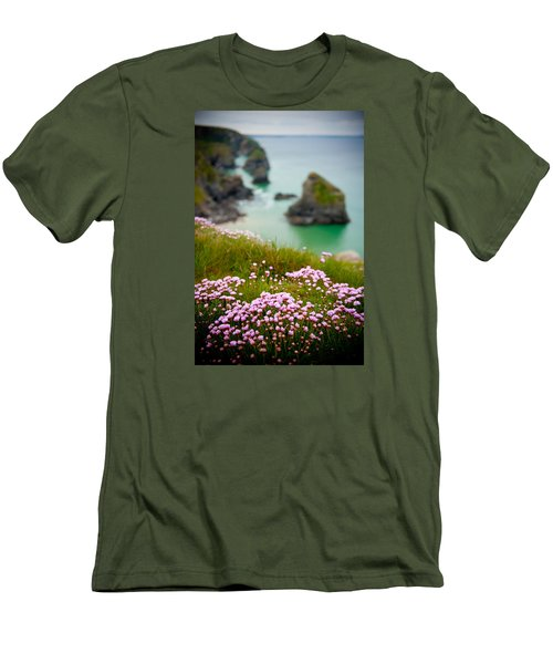 Wild Sea Pinks In Cornwall Men's T-Shirt (Athletic Fit)