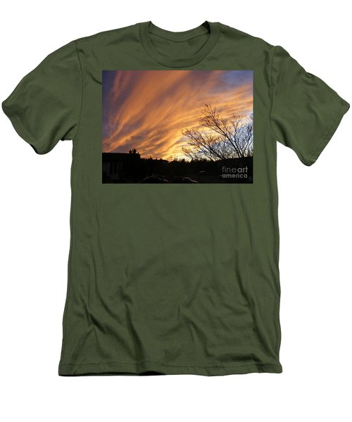 Men's T-Shirt (Slim Fit) featuring the photograph Wild Sky Of Autumn by Barbara Griffin