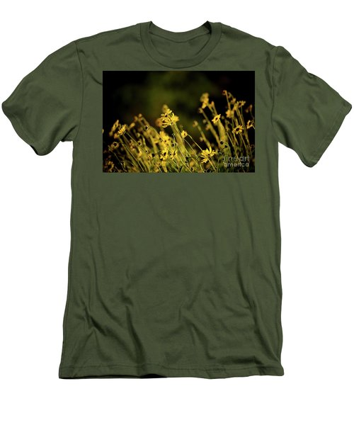 Wild Spring Flowers Men's T-Shirt (Slim Fit) by Kelly Wade
