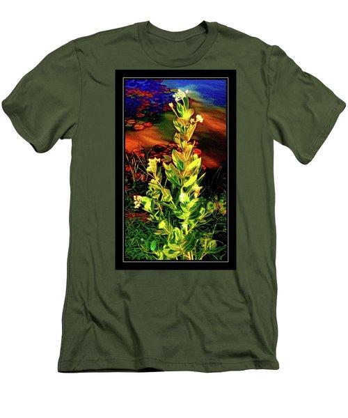Wild Thai Lake Jasminum - Photo Painting Men's T-Shirt (Slim Fit) by Ian Gledhill