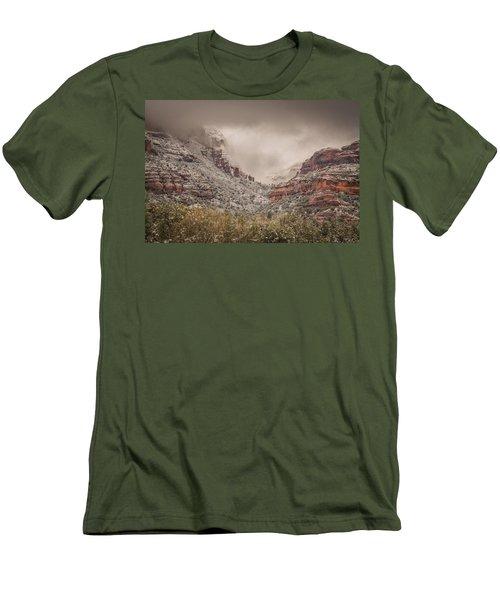 Boynton Canyon Arizona Men's T-Shirt (Slim Fit) by Racheal Christian