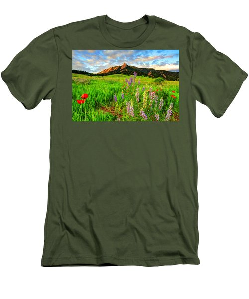 Wildflower Mix Men's T-Shirt (Slim Fit) by Scott Mahon