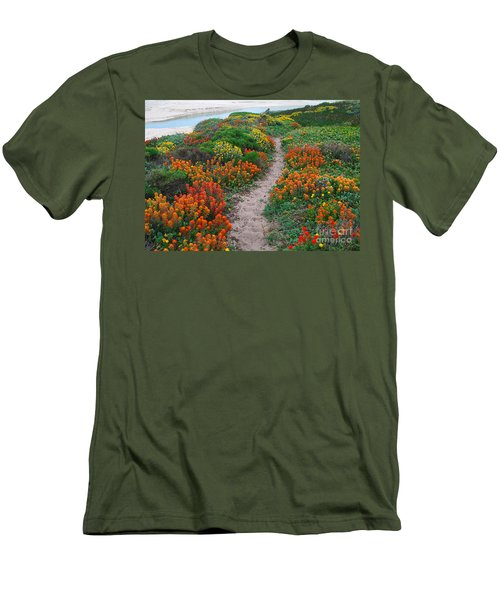 Wildflower Path At Ribera Beach Men's T-Shirt (Athletic Fit)