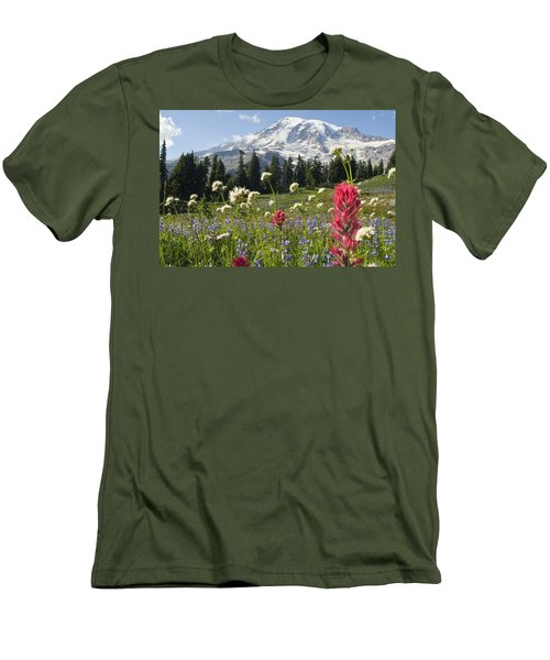 Wildflowers In Mount Rainier National Men's T-Shirt (Athletic Fit)