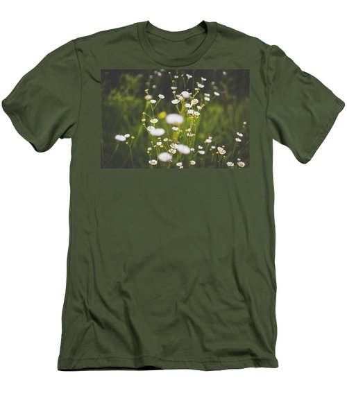Men's T-Shirt (Slim Fit) featuring the photograph Wildflowers In Summer by Shelby Young