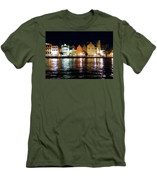 Men's T-Shirt (Slim Fit) featuring the photograph Willemstad, Island Of Curacoa by Kurt Van Wagner