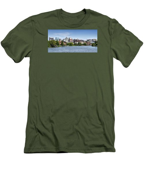 Wilmington Delaware Skyline Men's T-Shirt (Slim Fit) by Brendan Reals