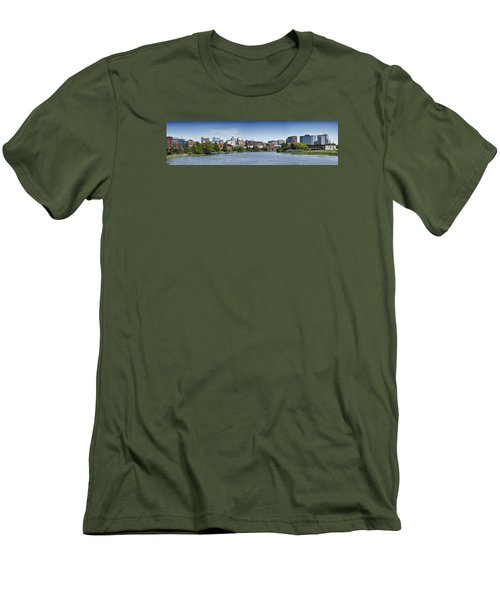 Wilmington Skyline Panorama - Delaware Men's T-Shirt (Slim Fit) by Brendan Reals
