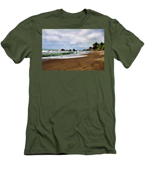Wilson Creek Beach Men's T-Shirt (Slim Fit) by Lana Trussell