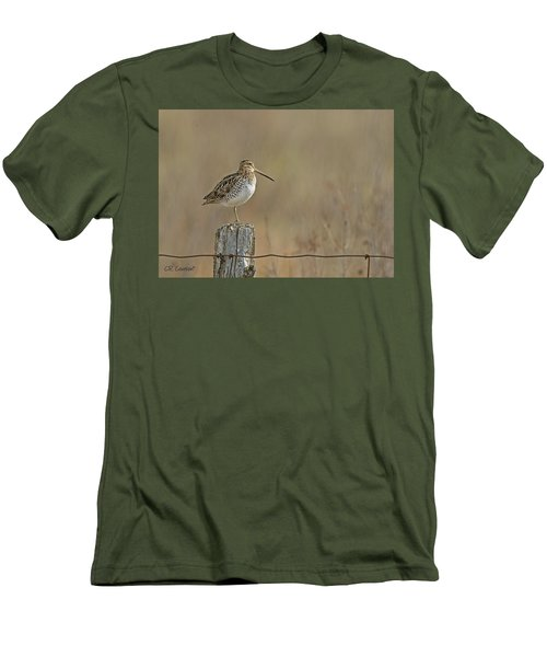 Wilson's Snipe On A Post Men's T-Shirt (Slim Fit) by CR Courson