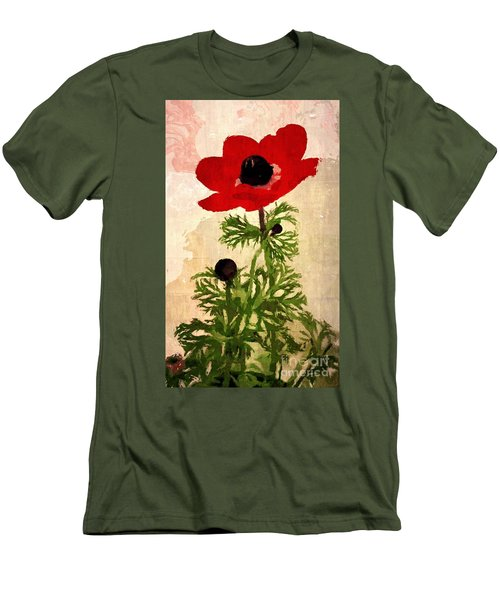 Men's T-Shirt (Slim Fit) featuring the digital art Wind Flower by Alexis Rotella