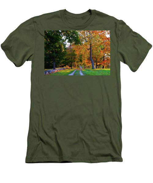 Winding Road In Autumn Men's T-Shirt (Athletic Fit)