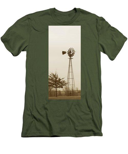 Men's T-Shirt (Slim Fit) featuring the photograph Windmill #1 by Susan Crossman Buscho