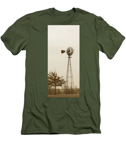 Windmill #1 Men's T-Shirt (Athletic Fit)