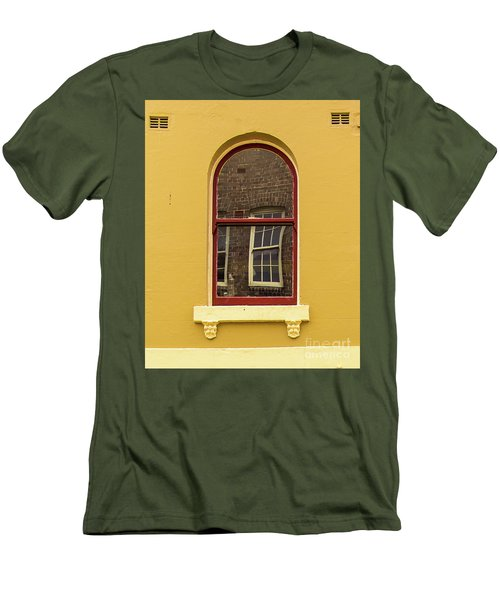 Men's T-Shirt (Slim Fit) featuring the photograph Window And Window 2 by Perry Webster