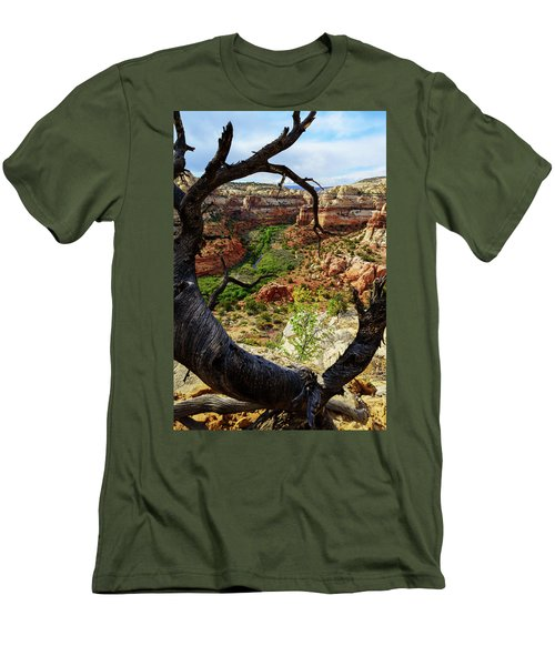Men's T-Shirt (Slim Fit) featuring the photograph Window by Chad Dutson