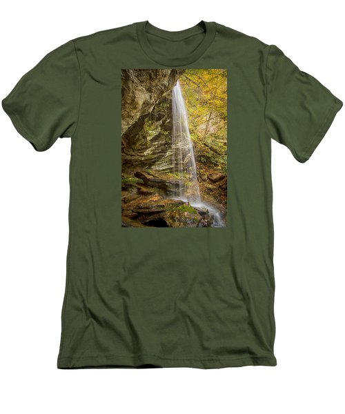 Men's T-Shirt (Slim Fit) featuring the photograph Window Falls In The Autumn by Bob Decker