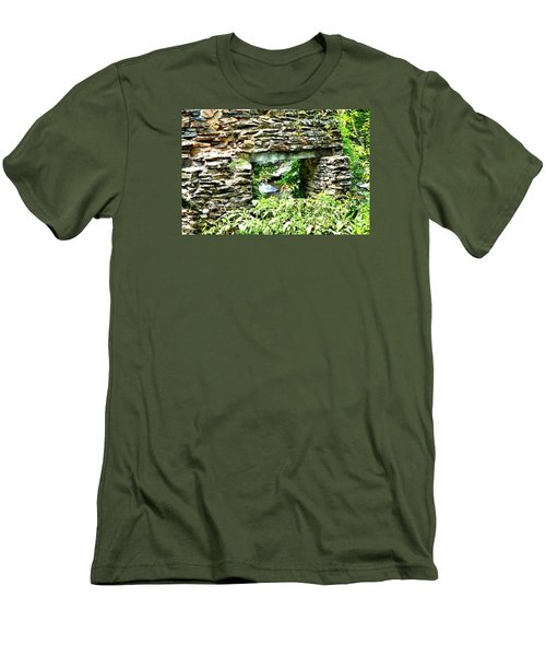 Window View Of Sope Creek Men's T-Shirt (Slim Fit) by James Potts
