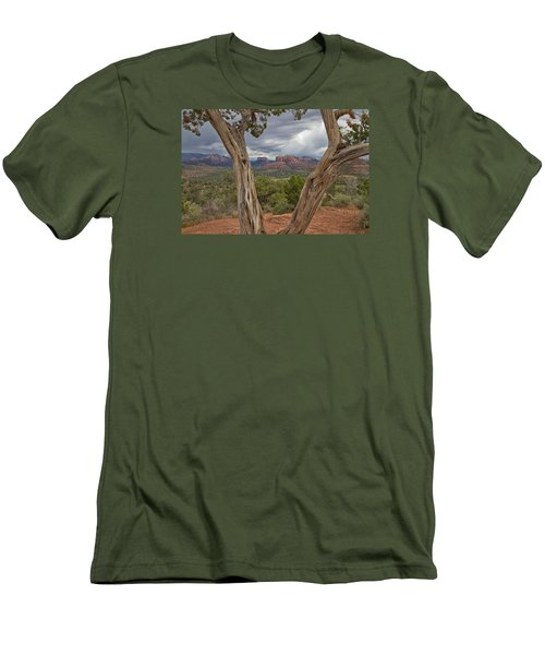 Men's T-Shirt (Slim Fit) featuring the photograph Window View by Tom Kelly