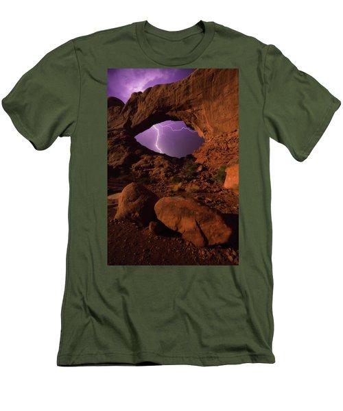 Windows Storm Men's T-Shirt (Slim Fit) by Darren White