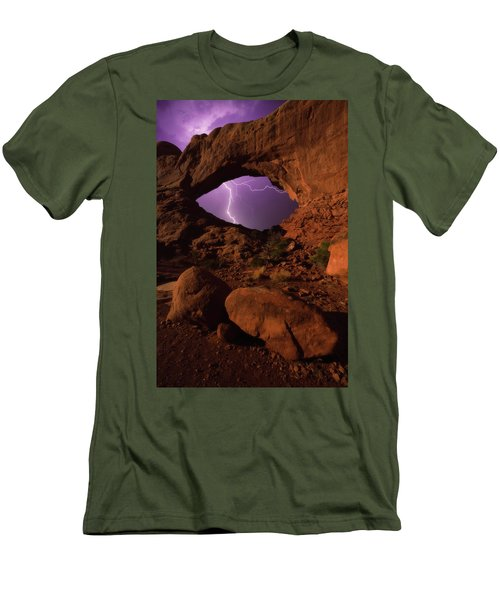 Men's T-Shirt (Athletic Fit) featuring the photograph Windows Storm by Darren White