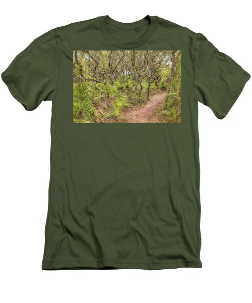 Men's T-Shirt (Athletic Fit) featuring the photograph Windswept Hammock by John M Bailey