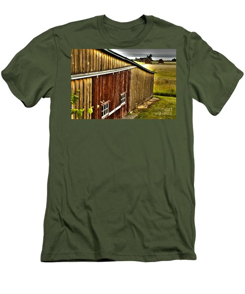 Wine Barn Men's T-Shirt (Athletic Fit)