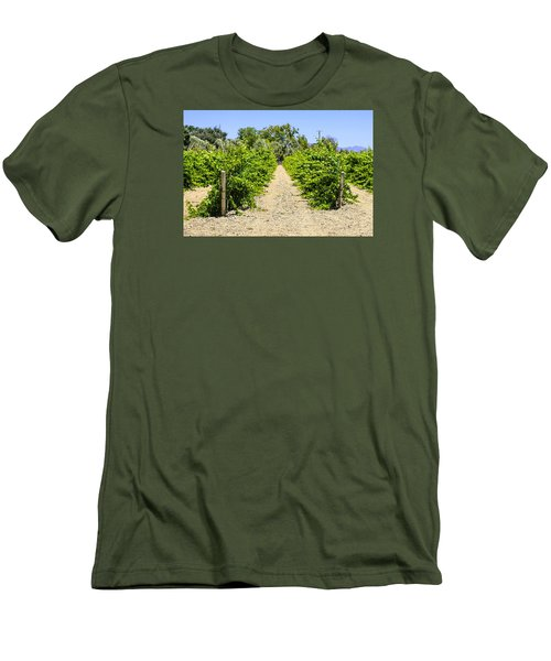 Wine On The Vine Men's T-Shirt (Slim Fit) by Chris Smith