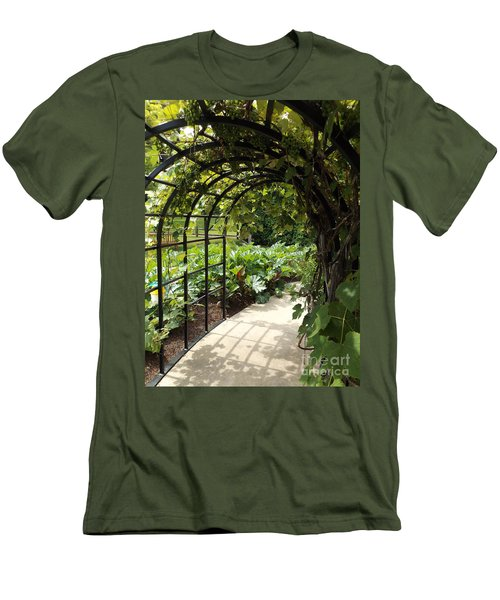 Wine Walk Men's T-Shirt (Slim Fit) by Erick Schmidt