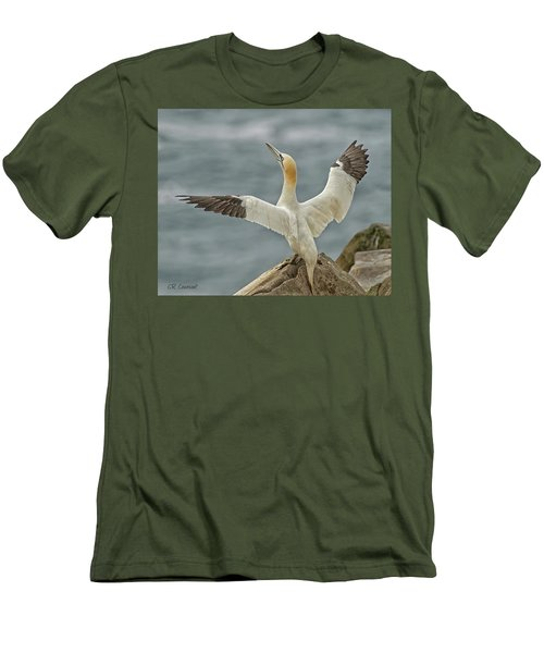 Wing Flap Men's T-Shirt (Slim Fit) by CR Courson