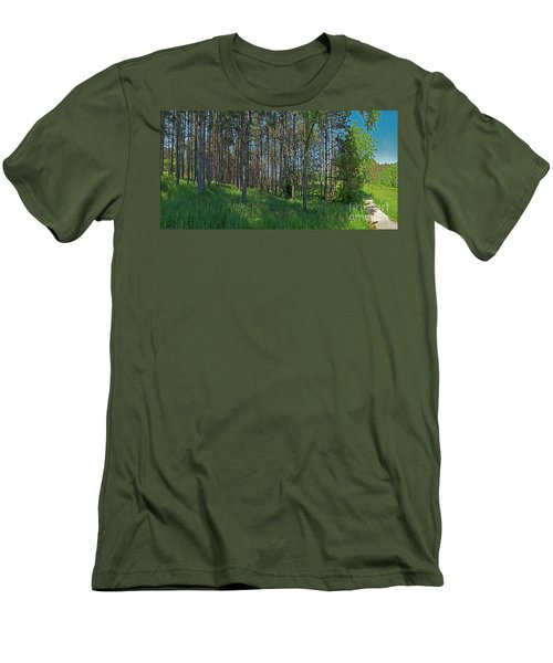 Wingate Prairie Veteran Acres Park Pines Crystal Lake Il Men's T-Shirt (Athletic Fit)