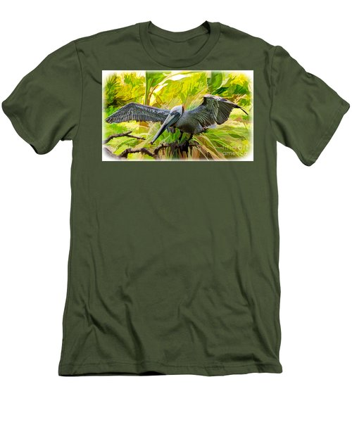 Winging It  Men's T-Shirt (Slim Fit) by Judy Kay