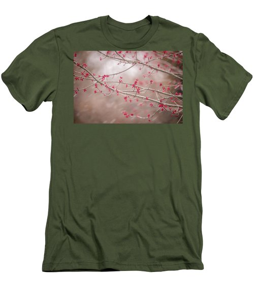 Men's T-Shirt (Slim Fit) featuring the photograph Winter And Spring by Terry DeLuco